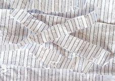 被弄皱的脱氧核糖核酸序列条纹  免版税库存图片