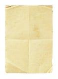 被弄皱的grunge纸张 免版税库存照片