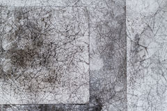 被弄皱的Vintege背景灰色老被弄皱的纸 免版税库存照片