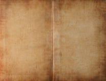 被弄脏展开的书黑暗的纸张 免版税库存照片