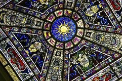 被弄脏的五颜六色的玻璃 免版税库存图片