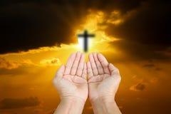 被弄脏的十字架 免版税库存照片