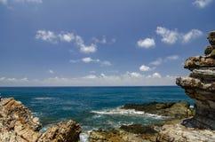被弄脏的图象背景,位于登嘉楼的Kapas海岛秀丽自然,马来西亚 免版税库存图片