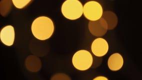 被弄脏的圣诞灯在树的晚上 影视素材