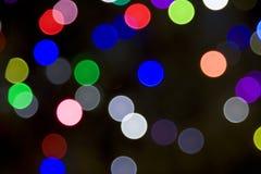 被弄脏的圣诞灯结构树 免版税库存照片
