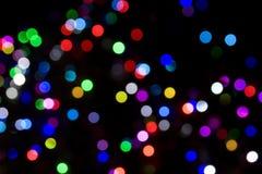 被弄脏的圣诞灯结构树 库存图片