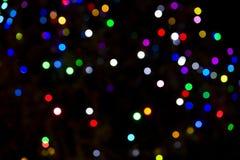 被弄脏的圣诞灯结构树 免版税库存图片