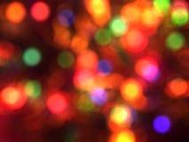 被弄脏的圣诞灯背景。 免版税库存照片