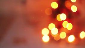 被弄脏的圣诞灯闪光,美好 股票录像