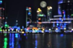 被弄脏的城市光 库存图片