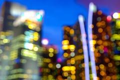 被弄脏的抽象背景点燃,美好的都市风景视图 图库摄影