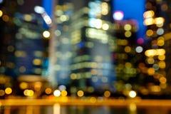 被弄脏的抽象背景点燃,美好的都市风景视图 免版税库存照片