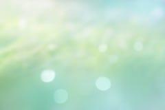被弄脏的抽象草和自然绿色淡色背景软的焦点 免版税库存照片