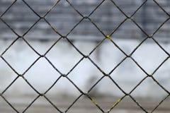 被弄脏的抽象风景栅格篱芭 金属栅格纹理背景 图库摄影