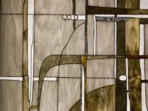 被弄脏的抽象玻璃 免版税库存图片