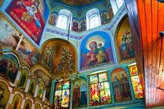 被弄脏的教会玻璃 免版税库存图片