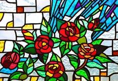 被弄脏的教会玻璃 免版税图库摄影