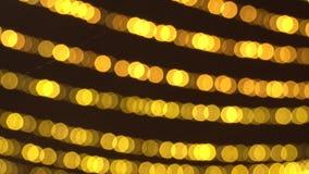 被弄脏的新年的闪烁的诗歌选Bokeh  温暖的金黄光美好的圣诞节背景  ?4K HD 股票视频