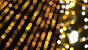 被弄脏的新年的闪烁的诗歌选Bokeh  温暖的金黄光美好的圣诞节背景  ?4K HD 影视素材