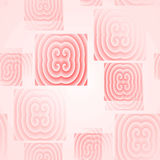被弄脏的无缝的方形的样式桃红色 库存图片