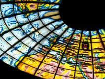 被弄脏的明亮的玻璃 免版税库存照片