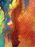 被弄脏的水彩艺术背景摘要飞溅溢出纺织品样式红色蓝色黄色五颜六色的织地不很细未充分干燥即送回的洗好的衣服 免版税图库摄影