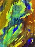 被弄脏的水彩艺术背景摘要飞溅纺织品样式青绿的黄色五颜六色的织地不很细未充分干燥即送回的洗好的衣服 图库摄影