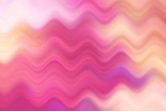 被弄脏的波浪线,五颜六色的抽象背景 免版税库存照片