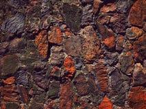 被弄脏的现代砖墙 库存照片