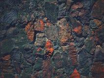 被弄脏的现代砖墙 免版税库存照片