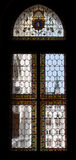 被弄脏的窗口匈牙利议会,匈牙利 库存图片
