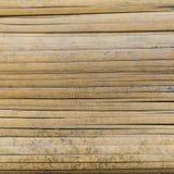 被弄脏的竹席子背景 库存图片