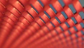 被弄脏的网格红色 免版税库存图片