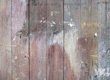绘被弄脏的老木篱芭 免版税库存图片