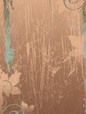 被弄脏的背景花卉 免版税库存照片