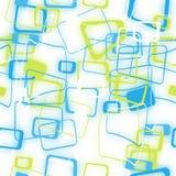 被弄脏的色的正方形的抽象无缝的样式 库存图片