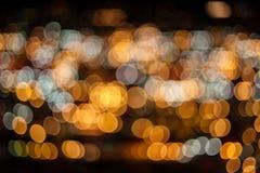 被弄脏的蓝色光抽象背景与bokeh的 库存图片