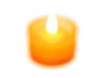 被弄脏的蜡烛 库存照片