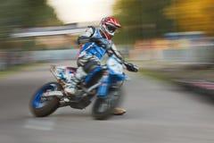 被弄脏的行动摩托车 免版税图库摄影