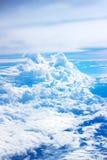 被弄脏的软性覆盖从飞机的看法 免版税库存图片
