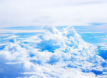 被弄脏的软性覆盖从飞机的看法 免版税库存照片