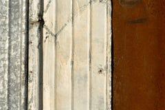 被弄脏的金属墙壁纹理样式 免版税图库摄影