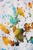 被弄脏的金黄斑点构造,给冬天背景打蜡 免版税库存照片