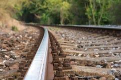 被弄脏的铁路轨道 免版税库存图片