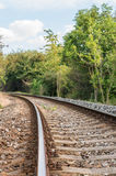 被弄脏的铁路轨道 库存图片