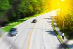 被弄脏的高速公路场面 免版税图库摄影