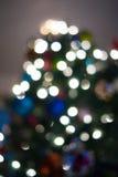 被弄脏的, defocused圣诞树摘要 图库摄影