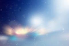 被弄脏的Blurred发光的背景雪 库存图片