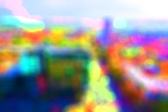 被弄脏的bokeh城市大厦背景 免版税库存图片