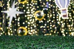 被弄脏的Bokeh闪烁圣诞节,Xmas假日 免版税库存图片